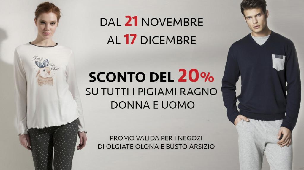 official photos 85cb8 c9aae Promo Pigiami Ragno Donna e Uomo - Corti Moda Abbigliamento